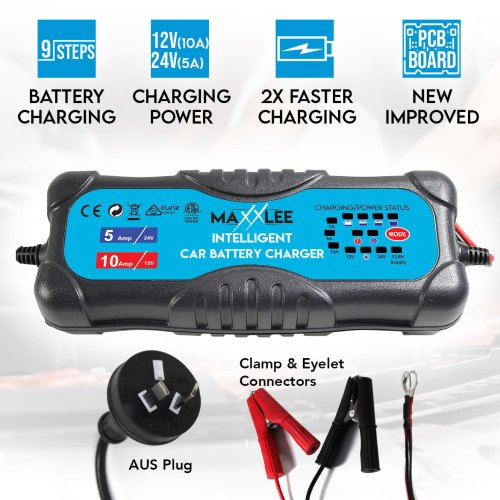 small resolution of smart battery charger 2a 5a 10a 12v 24v automatic 9 stages sla car 4wd caravan