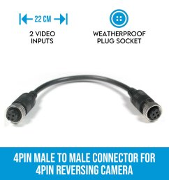 4pin female to female connector for 4pin reversing camera [ 900 x 900 Pixel ]