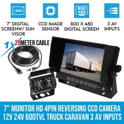 Caravan Wiring Diagram For Reversing Camera 1997 Jeep Cherokee 7 Quot Monitor Hd 12v 24v Ccd