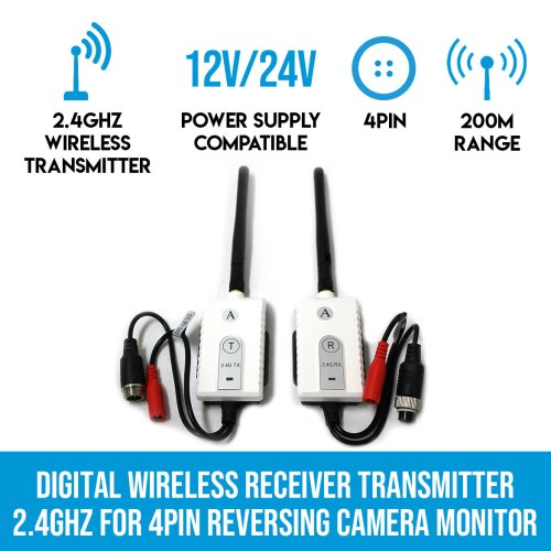 small resolution of digital wireless receiver transmitter 2 4ghz for 4pin reversing camera monitor