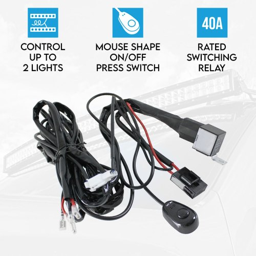 small resolution of wiring loom harness for led hid fog spot work driving light 12v led hid spot work driving light bar wiring loom harness 12v 40a relay