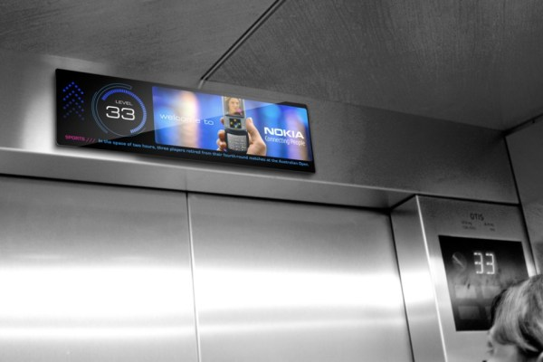 Pantallas específicas para ascensores