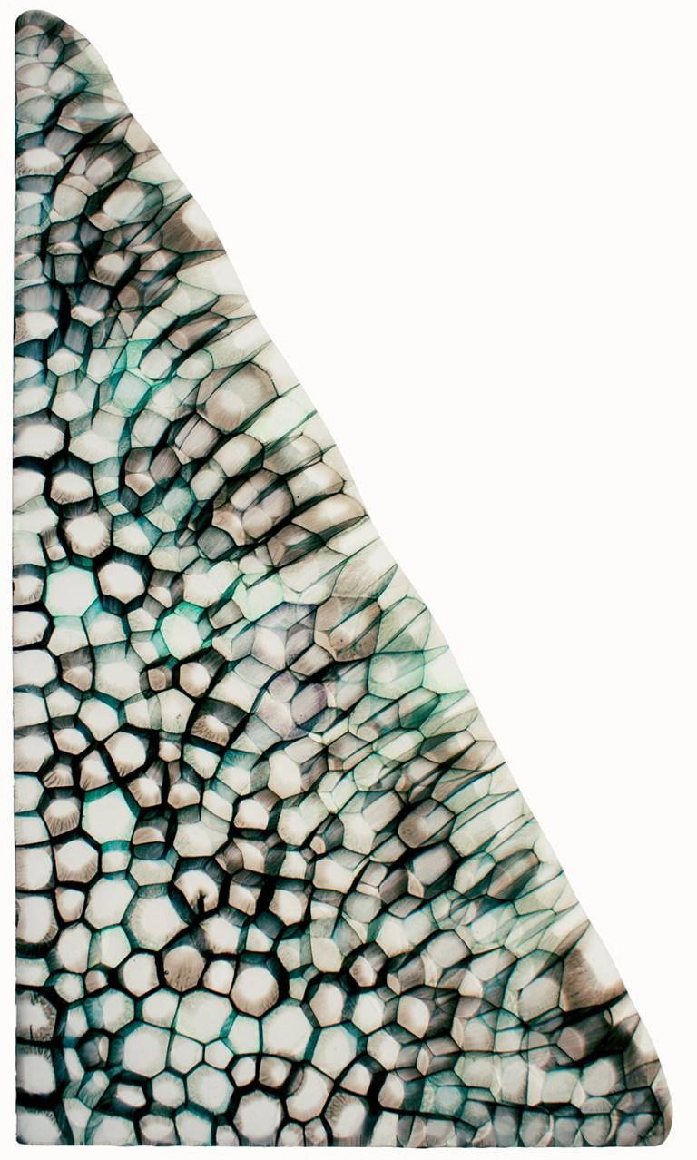 Civilisation Hyttformat, sågat, fusat glas. 55 x 34 x 1 cm.