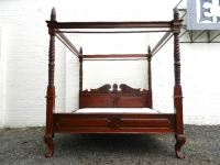 ANTIQUE FURNITURE WAREHOUSE - 6ft Wide Antique Four Poster ...