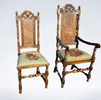 Antique High Back Chairs