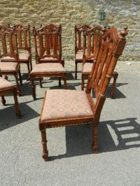 ANTIQUE FURNITURE WAREHOUSE - Set 8 Gothic Chairs - Eight ...