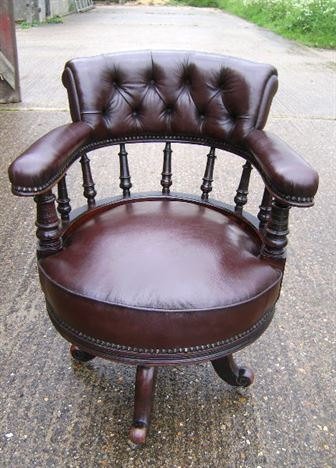 revolving desk chair the sofa and company antique furniture warehouse - late 19th century mahogany leather ...