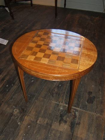 Edwardian Period Mahogany and Rosewood Inlaid Chess Board