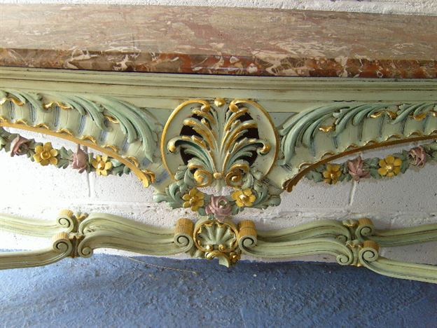 high back wing chairs office chair accessories antique furniture warehouse - hall console table large french rococo painted and gilt ...