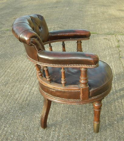 swivel chair wooden legs pure gym massage antique furniture warehouse - leather desk late 19th century victorian ...