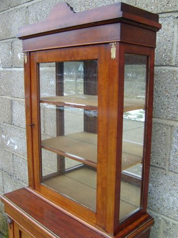 ANTIQUE FURNITURE WAREHOUSE  Antique Narrow Display Cabinet  Small and Narrow Victorian