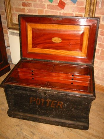 ANTIQUE FURNITURE WAREHOUSE  Antique Victorian mahogany fitted cabinetmakers tool chest