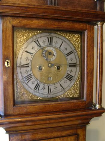 ANTIQUE FURNITURE WAREHOUSE  Georgian oak grandfather clock  Georgian oak longcase clock with