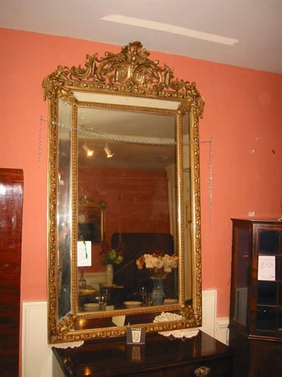 ANTIQUE FURNITURE WAREHOUSE  Large Antique Mirror  Large