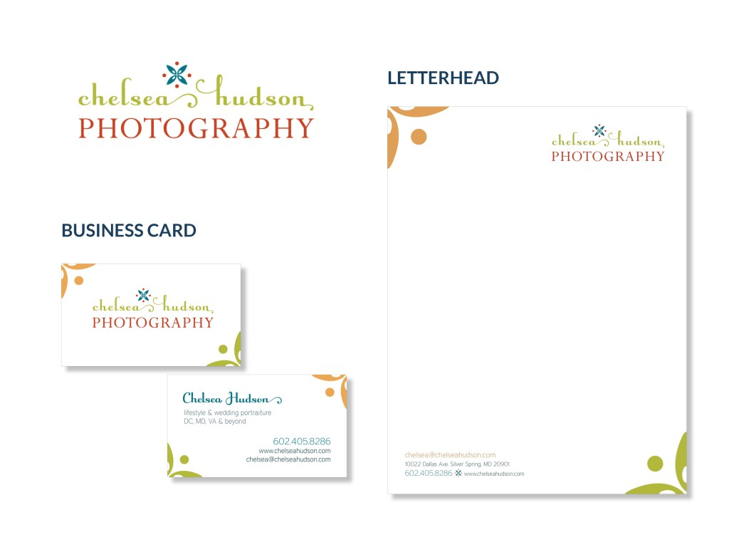 Chelsea Hudson Photography logo and stationery