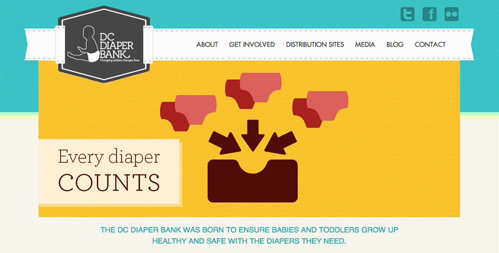 DC Diaper Bank Every Diaper Counts slider image