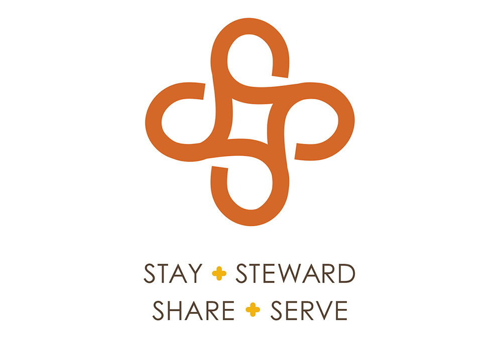 Stay, Steward, Share, Serve logo
