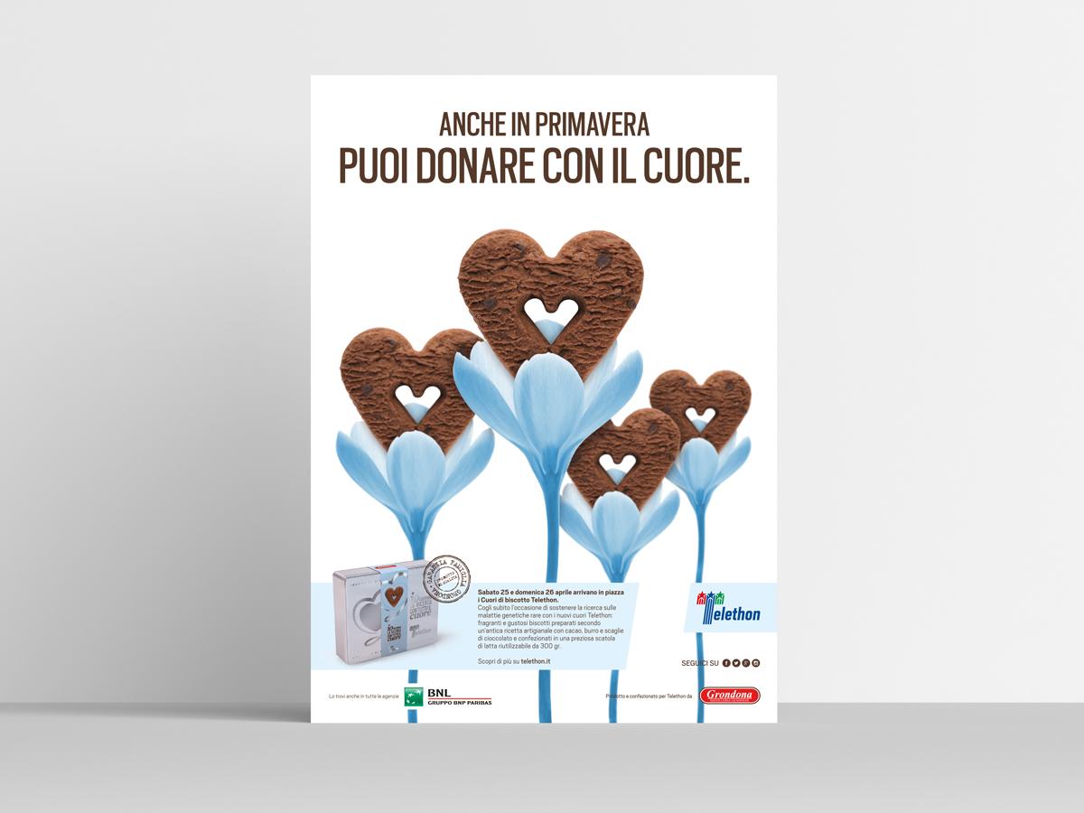 Campagna Cuori di biscotto Fondazione Telethon 2015