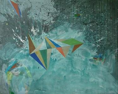 Posedin, Acryl auf Leinwand, 160 x 200 cm, 2012