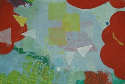 Rote Büsche, Öl auf Leinwand, 20 x 30 cm, 2008