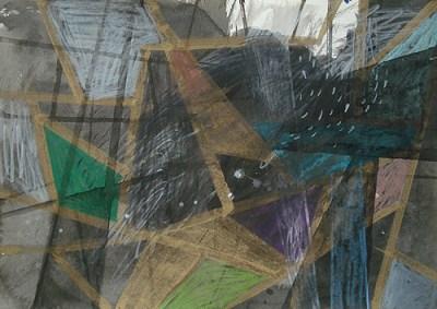 Zechin, Mischtechnik auf Papier, 21 x 29,7 cm, 2011