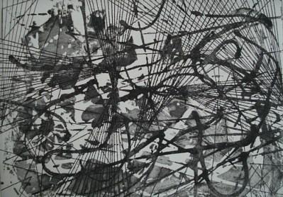 Gestrüpp I, Aquatinta, 14 x 20 cm, 2010