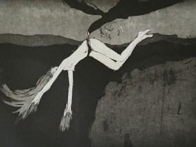 Flying and Falling in B.C., Aquatinta, 18,5 x 30 cm, 2007