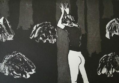 Im Wald, Aquatinta, 21 x 29,6 cm, 2007