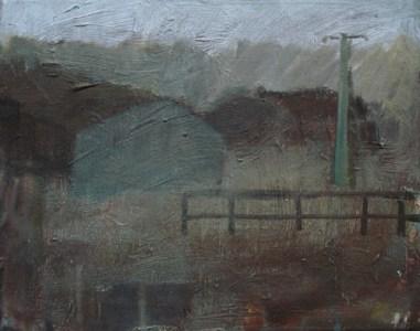 Gebäude, Öl auf Leinwand, 25 x 30 cm, 2006