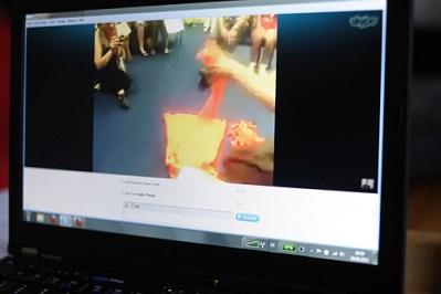 Skype-Performance, Performance, 2012 (Foto: Axel Schubert)