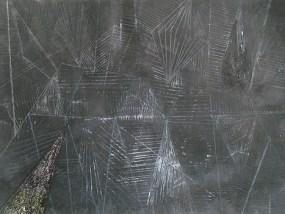 Felder, Mondschein I, Mischtechnik auf Papier, 21 x 29,7 cm, 2012