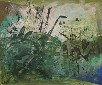 Plötzen, Acryl auf Leinwand, 150 x 180 cm, 2011