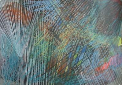 Sprucke, Mischtechnik auf Papier, 21 x 29,7 cm, 2010