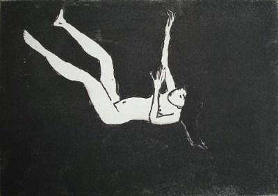 Fallen, Aquatinta, 14 x 20 cm, 2010
