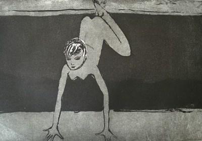 Secovlje Soline, Aquatinta, 22 x 29,5 cm, 2007