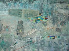 Unfinished and abandoned I, Acryl auf Leinwand, 160 x 200 cm, 2015