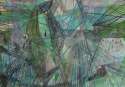 Trebbin, Mischtechnik auf Papier, 21 x 29,7 cm, 2011