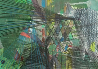 Tornow, Mischtechnik auf Papier, 21 x 29,7 cm, 2009