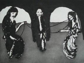 Parzen, Aquatinta, 14 x 20 cm, 2010