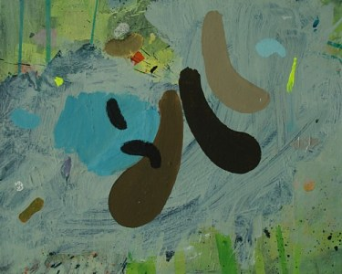 Tobel, Öl auf Leinwand, 40 x 50 cm, 2009