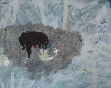 Ohne Titel, Öl auf kaschierter Hartfaser, 24 x 30 cm, 2008