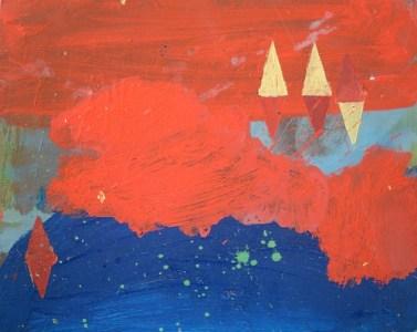 See abends, Öl auf kaschierter Hartfaser, 24 x 30 cm, 2008