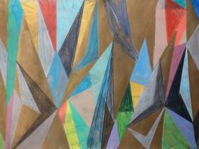 Hövet, Mischtechnik auf Papier, 21 x 29,7 cm, 2016