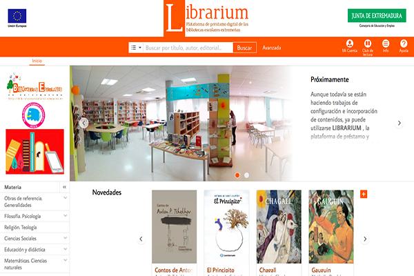 Resultado de imagen de Librarium, Junta de Extremadura