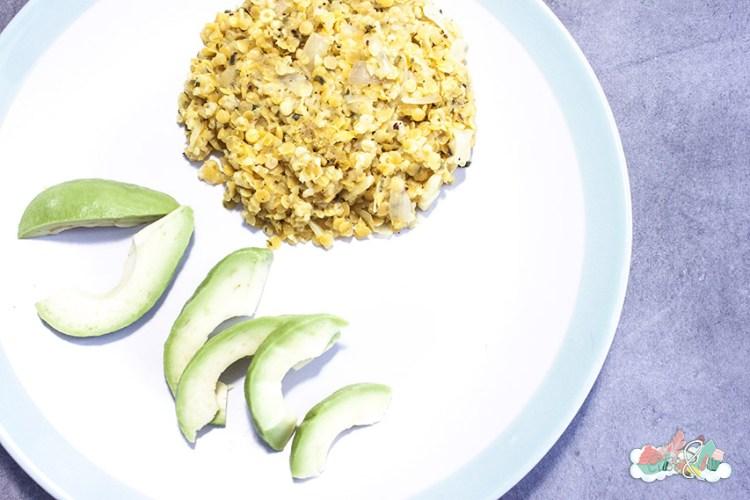 Recette Lentilles Corail et Boulgour avec sauce Oignons Citrons assiette