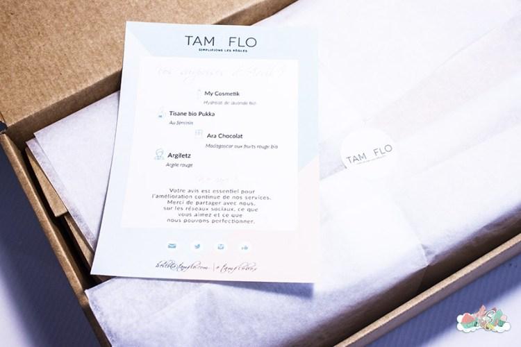 TamFlo Box Avril - Présentation de la box - Revue Elise&Co