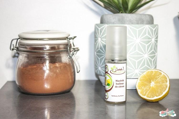 lutter-contre-les taches pigmentaires naturellement -poudre-de-manjishta-aroma-zone-macerat-de-citron-eliseco-astuces