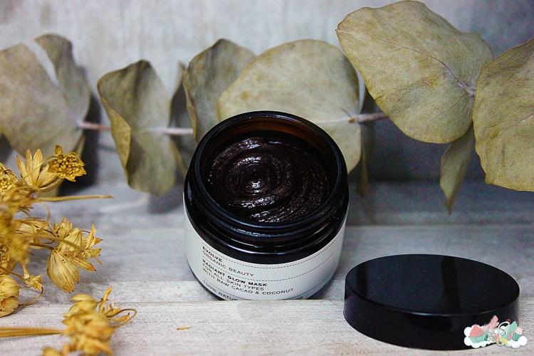 Le masque au cacao de-chez-Evolve- elise and co -plein-fard-sur-un-teint-lumineux