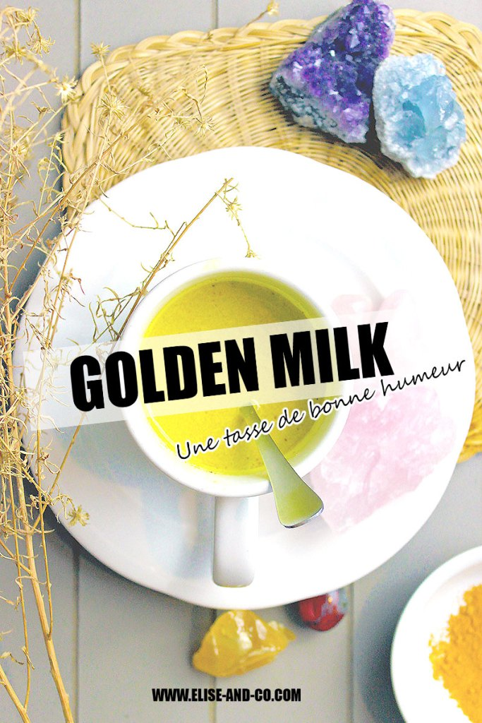 recette lait d'or ou golden milk boisson ayurvedique - pinterest - elise and co