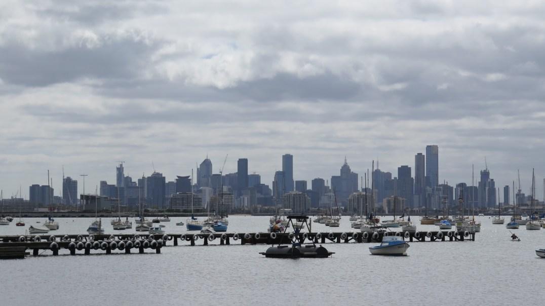 Vue de Melbourne depuis Williamstown
